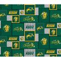North Dakota State Bison Fleece Fabric-College Patch