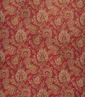 Home Decor 8\u0022x8\u0022 Fabric Swatch-Upholstery Fabric Eaton Square Lines Rouge