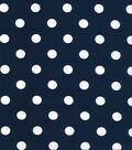 Keepsake Calico Cotton Fabric Large Dots on Navy