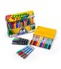 Crayola Ultra-Clean Broad Line Washable Markers-Assorted Colors 64/Pkg