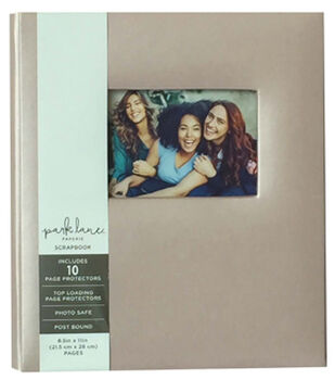 Park Lane 8.5''x11'' Scrapbook Album-Beige