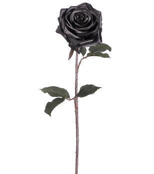 "Bloom Room 21.5"" Black Magic Rose Stem-Black"