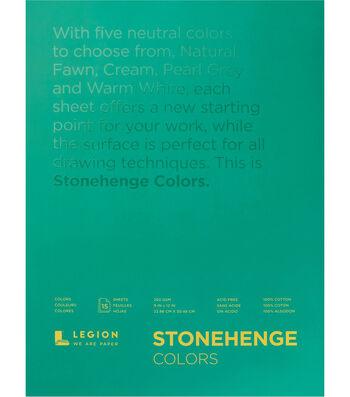 Legion Paper Stonehenge 15-sheet 9''x12'' 90 lb Paper Pad-Multicolor
