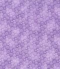 Keepsake Calico Cotton Fabric-Multi Flower Sketch on Purple