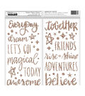 American Crafts Shimelle Head in the Clouds Thickers 76 pk Foam Stickers
