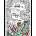 Design Works Zenbroidery Stamped Picture Kit-Be Happy
