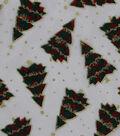 Holiday Decor Organza Fabric-Christmas Tree Glitter