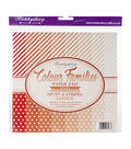 Hunkydory Color Families Paper Pad 8X8 48/Pk-Red Spots & Stripes