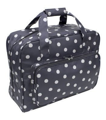 Everything Mary Sewing Machine Carry Case-Dots on Black