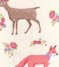 3 Yard Pre-Cut Snuggle Fabric 42\u0022-Sweet Forest Creatures