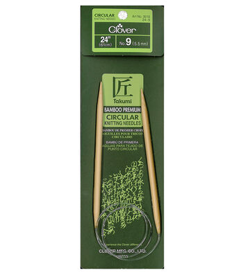 "Takumi Bamboo Circular Knitting Needles 24""-Size 9/5.5mm"
