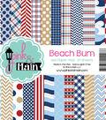 Pink & Main 24 sheet 6\u0027\u0027x6\u0027\u0027 Double-Sided Paper Pad-Beach Bum