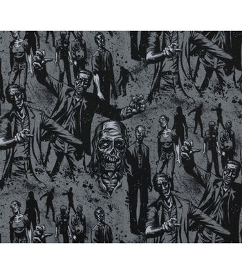 Halloween Cotton Fabric-Zombie!