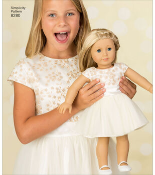 Simplicity Pattern 8280 18'' Doll American Girl Clothes
