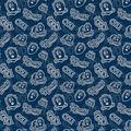 Old Dominion University Monarchs Cotton Fabric-Tone on Tone
