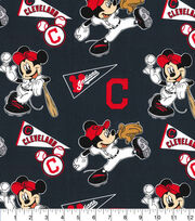 Cleveland Indians Cotton Fabric-Mickey, , hi-res