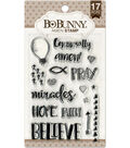 BoBunny 17 pk 6\u0027\u0027x4\u0027\u0027 Clear Stamps-Amen