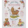 Sweet Baby Birth Record Counted Cross Stitch Kit-10.5\u0022X13.5\u0022 14 Count