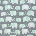 Blizzard Fleece Fabric-Mint Elephants & Hearts