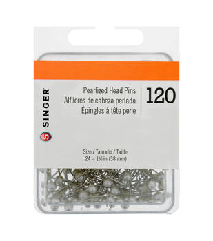 Pearlized Straight Pins-Size 24 120/Pkg