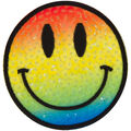 Simplicity Rainbow Sequined Smiley Face Iron-on Applique