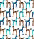 Snuggle Flannel Fabric -Kissing Dogs