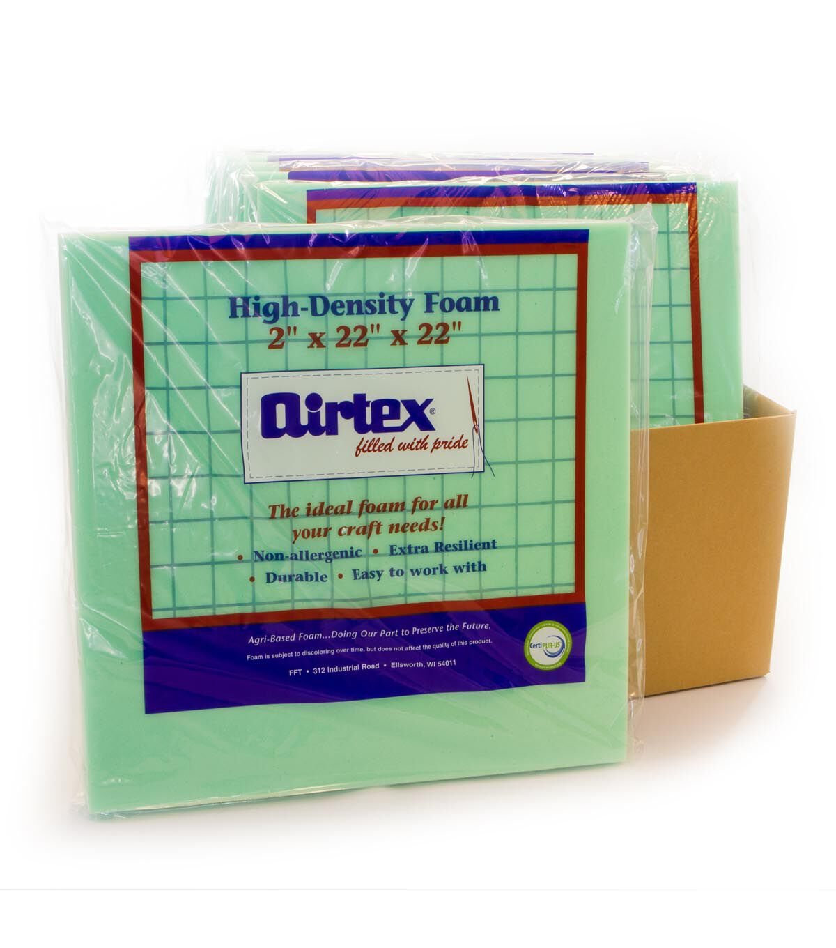 Airtex 6 Pk 2u0027u0027 High Density Foam Chair Pads