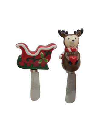 Maker's Holiday Christmas Reindeer & Sleigh Spreaders