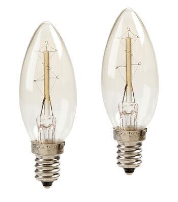 Hudson 43 Edison Style Candelabra Bulb 7W 2pk