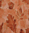 Harvest Cotton Fabric-Orange Leaves with Outlines