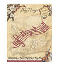 Amy Design Vintage Christmas Die-Musical Staff
