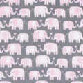 Blizzard Fleece Fabric-Elephant Love on Pink