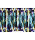 Silky Prints Rayon Fabric 53\u0027\u0027-Purple & Teal Abstract