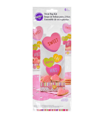 Wilton Treat Bag Kits 6/Pkg-Words Can Express