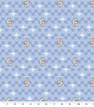 Disney Frozen 2 Cotton Knit Fabric-Elsa & Snowflakes