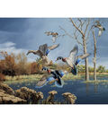 Novelty Cotton Fabric Panel 44\u0022-Wood Ducks In Autumn