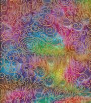 Legacy Studio Indian Batiks Cotton Fabric -Rainbow Scrolls, , hi-res