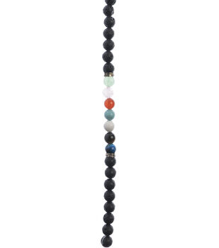 hildie & jo Strung Beads-Lava Beads With 7 Multicolor Beads