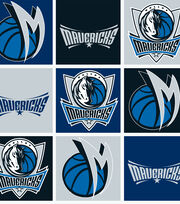 Dallas Mavericks Fleece Fabric -Block, , hi-res