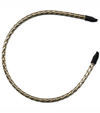 Headband Accent Pleather Braid