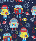 Snuggle Flannel Fabric -Space Robots