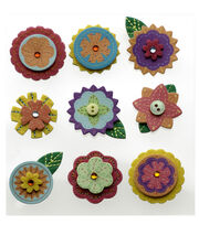Layered Mini Flowers, , hi-res