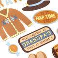 American Crafts Stickers-Off Grandpa