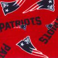 New England Patriots Fleece Fabric -Red