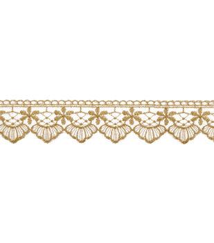 Wrights Elegant Venice Lace Trim 3.5''-Champagne