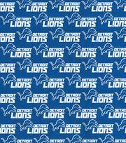 Detroit Lions Cotton Fabric -Blue, , hi-res