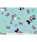 Disney Minnie Mouse Cotton Fabric -Friends & Bows