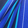 Ember Knit Prints Double Brushed Fabric-Light Blue, Navy, Teal Stripe