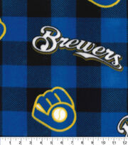 Milwaukee Brewers Fleece Fabric-Buffalo Plaid, , hi-res