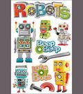 Paper House 3-D Sticker-Robots